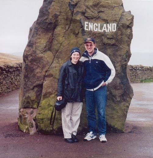 Amanda and Michael England sign