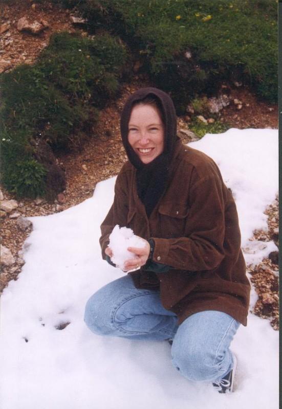 Amanda in the snow in Austria